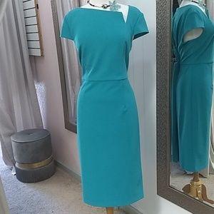 Donna Morgan/ Teal Tea Length / Asymmetrical Dress